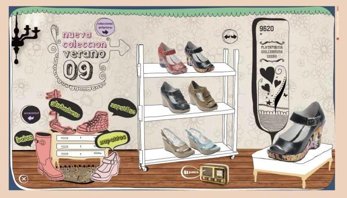 Sitio web de Huija, zapatos de autor
